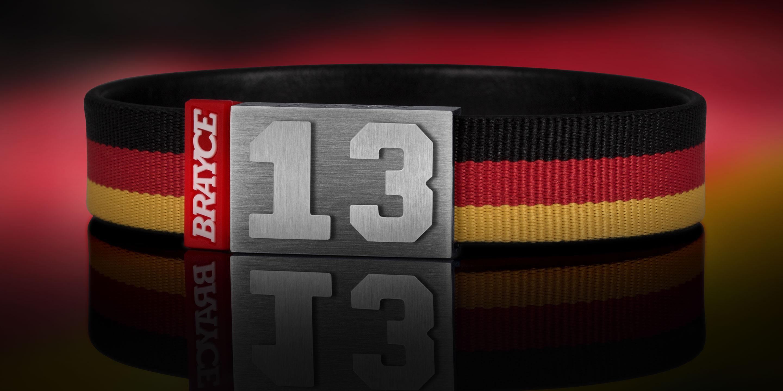 Deutschland Trikot am Handgelenk® mit Nummer 13