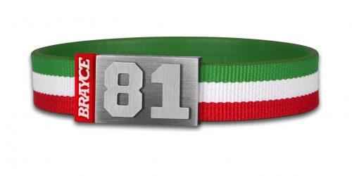 Italien Trikot am Handgelenk® mit Nummer 81