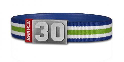 BRAYCE® grün, weiß & blau im Style vom Seahawks Trikot mit Nummer 30