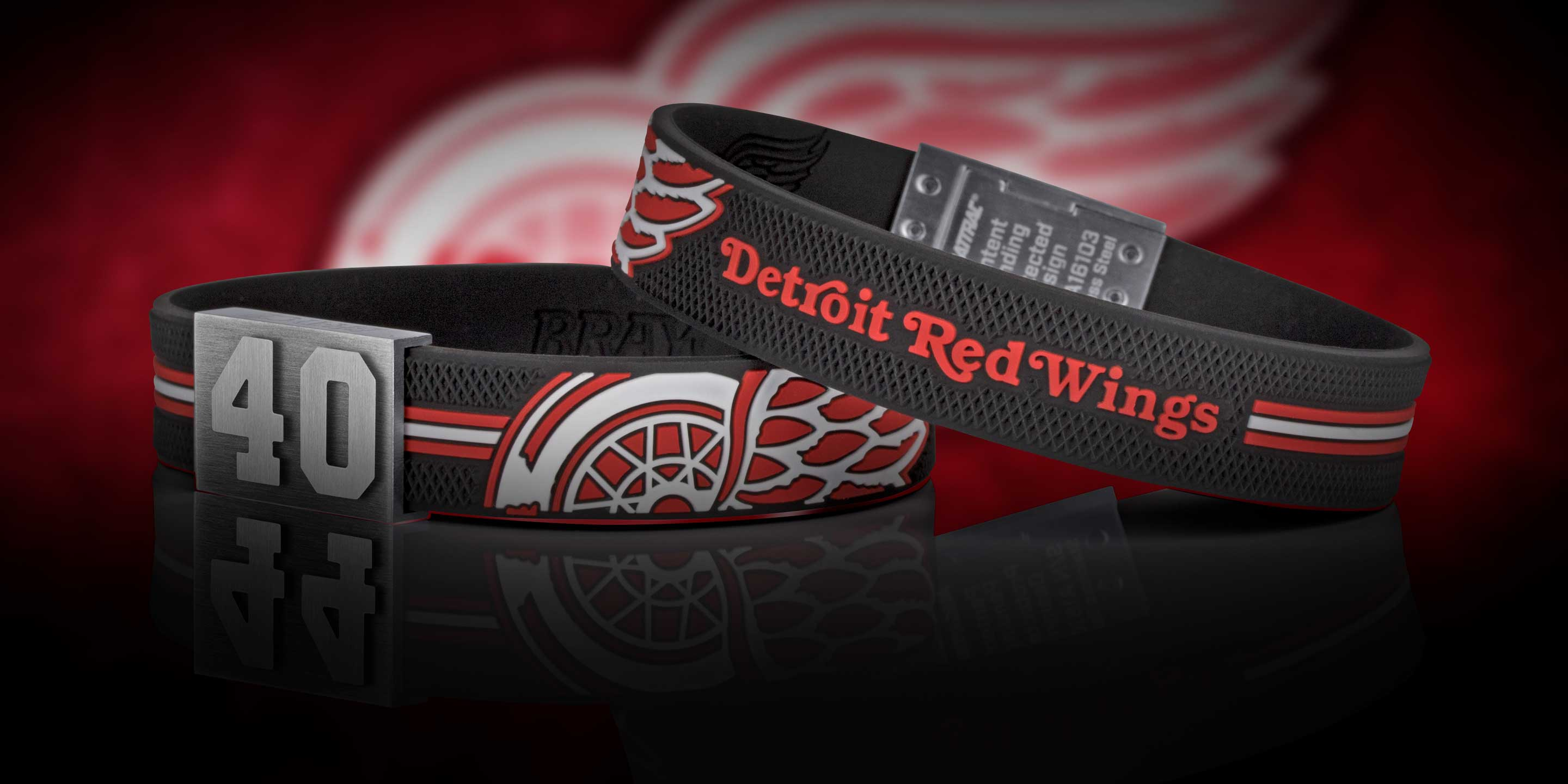 BRAYCE Detroit Red Wings Armband Nummer 40