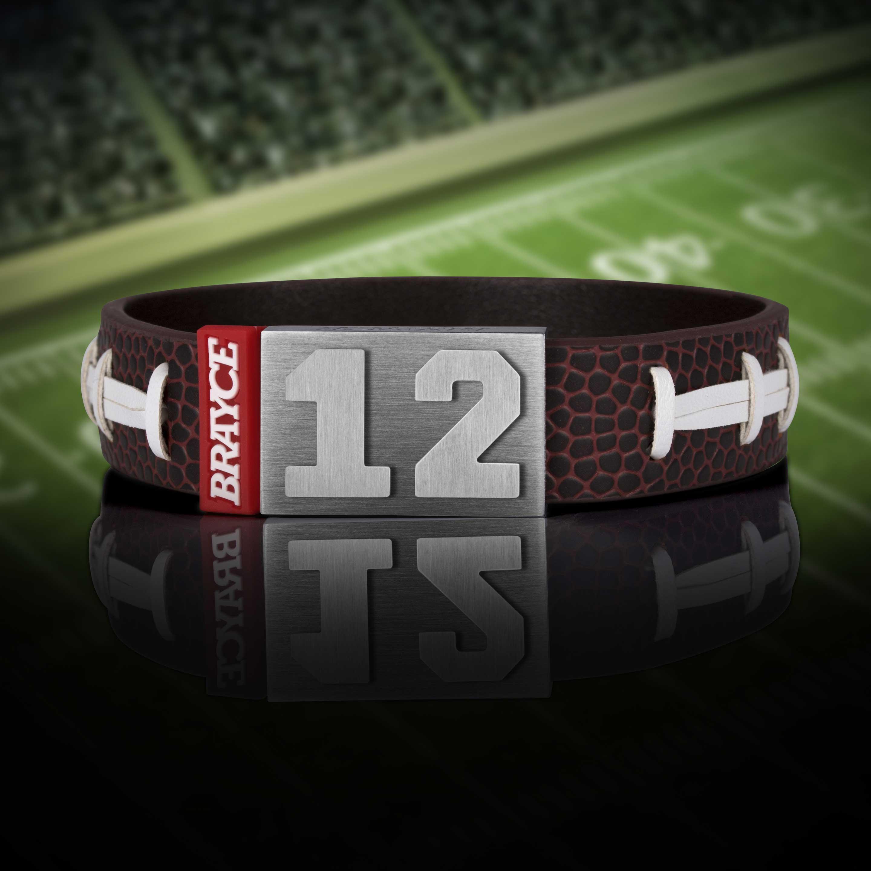 American Football Armband mit Trikotnummer 12