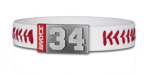 Baseball Armband mit Nummer 34