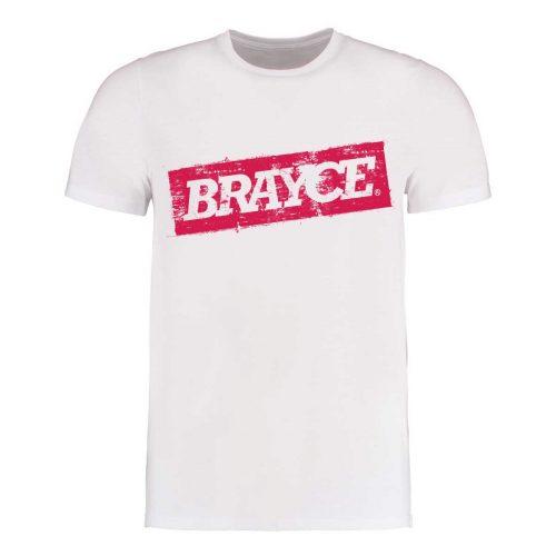 BRAYCE Logo T-Shirt weiß