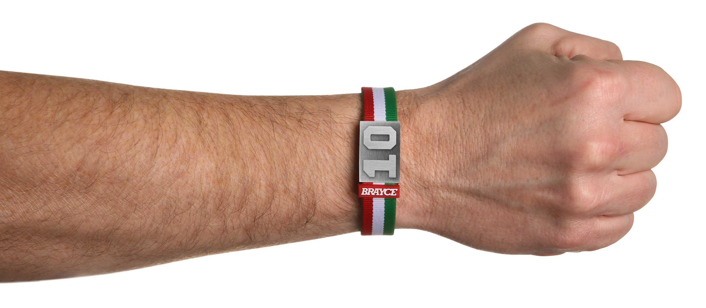 Italien Trikot am Handgelenk® mit Nummer 10